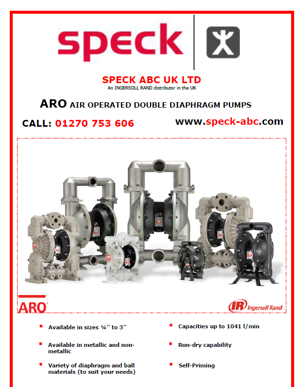 Ingersoll Rand ARO air operated double diaphragm pump
