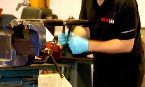 Hands on Speck repair part in lock