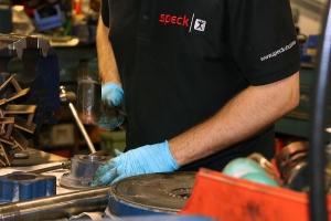 hammer on Speck repair job